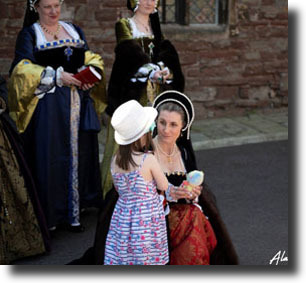 tudor history for young people at castles in England